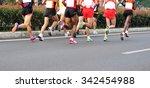 marathon running race  people... | Shutterstock . vector #342454988