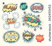 comic book sound effects  ... | Shutterstock .eps vector #342455453