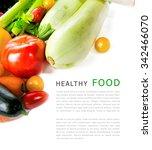 set of fresh vegetables... | Shutterstock . vector #342466070