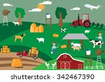 agriculture infographics... | Shutterstock .eps vector #342467390