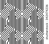 art deco seamless geometrical... | Shutterstock .eps vector #342474236