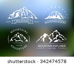 mountains silhouettes. set of... | Shutterstock .eps vector #342474578