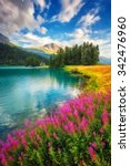 Fantastic Azure Alpine Lake...
