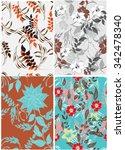 seamless flower background  ... | Shutterstock .eps vector #342478340