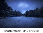view of night park and many... | Shutterstock . vector #342478910