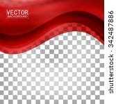 red background curve. vector... | Shutterstock .eps vector #342487886