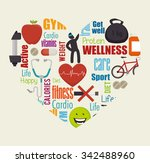 wellness healthy lifestyle... | Shutterstock .eps vector #342488960