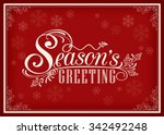 Season Greeting Word Vintage...