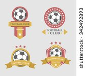soccer football badges vector... | Shutterstock .eps vector #342492893