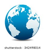 europe  north  south america ... | Shutterstock . vector #342498014