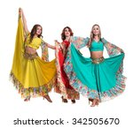 three flamenco dancer  women... | Shutterstock . vector #342505670