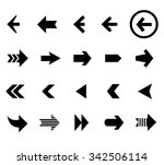 back and next arrow icons... | Shutterstock .eps vector #342506114