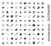 kitchen icons set.    Shutterstock . vector #342506489