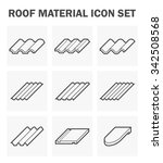 roof material icon set. | Shutterstock .eps vector #342508568