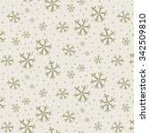 snowflakes pattern | Shutterstock .eps vector #342509810