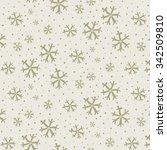 snowflakes pattern | Shutterstock .eps vector #342509810