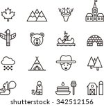canada icons | Shutterstock .eps vector #342512156