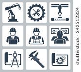engineering and manufacturing... | Shutterstock .eps vector #342512324