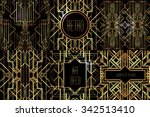 art deco vintage patterns and... | Shutterstock .eps vector #342513410