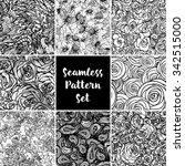 set of black and white... | Shutterstock .eps vector #342515000