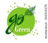 go green campaign education... | Shutterstock .eps vector #342515270