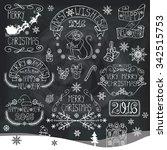 christmas season decorations... | Shutterstock .eps vector #342515753