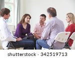 meeting of support group   Shutterstock . vector #342519713