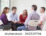 meeting of support group | Shutterstock . vector #342519746
