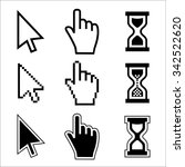 vector icon hand  cursor and... | Shutterstock .eps vector #342522620