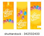 set of happy easter lettering... | Shutterstock .eps vector #342532433