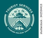 logo emblem for tourism and... | Shutterstock .eps vector #342534413