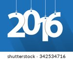 happy 2016 new year word | Shutterstock .eps vector #342534716