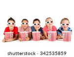 group of children with 3d... | Shutterstock . vector #342535859