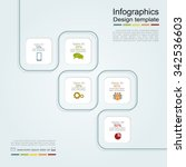 infographic report template... | Shutterstock .eps vector #342536603