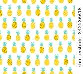 tropical pineapple seamless... | Shutterstock .eps vector #342536618