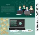 programming concept developer... | Shutterstock .eps vector #342537950
