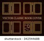 vector classical book cover.... | Shutterstock .eps vector #342544688
