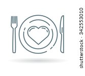 conceptual eat healthy icon.... | Shutterstock .eps vector #342553010