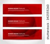 set of trendy red vector... | Shutterstock .eps vector #342555260