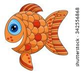smiling orange fish  vector...   Shutterstock .eps vector #342556868