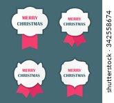 christmas label illustration  | Shutterstock . vector #342558674