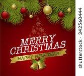 vector christmas background... | Shutterstock .eps vector #342560444