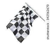 checkered flag photo imgmage... | Shutterstock . vector #342562670