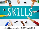 skill ability qualification... | Shutterstock . vector #342569894