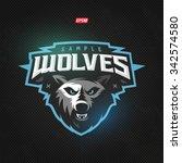 modern professional wolf logo... | Shutterstock .eps vector #342574580