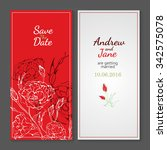 wedding invitation with vector... | Shutterstock .eps vector #342575078