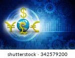 global currencies | Shutterstock . vector #342579200
