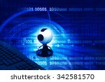 web camera  with computer...   Shutterstock . vector #342581570