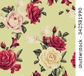 seamless floral pattern with... | Shutterstock . vector #342581990