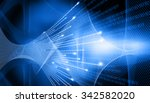 binary stream  hi tech... | Shutterstock . vector #342582020